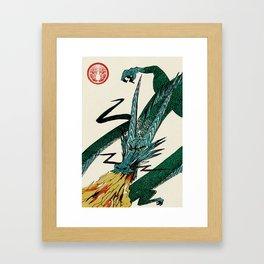 Slice & Dice - Dragon Framed Art Print