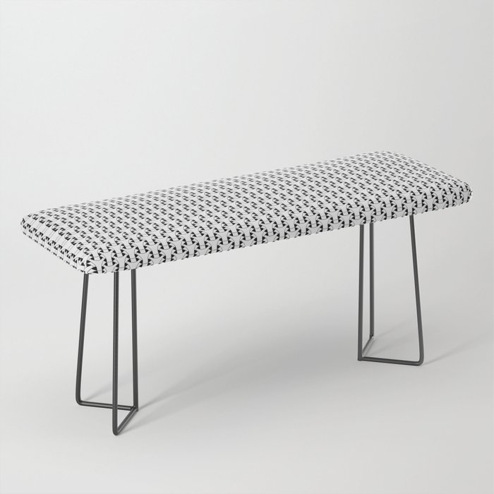 Black and White Basket Weave Shape Pattern 2 - Graphic Design Bench