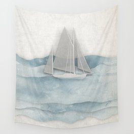 Floating Ship Wall Tapestry