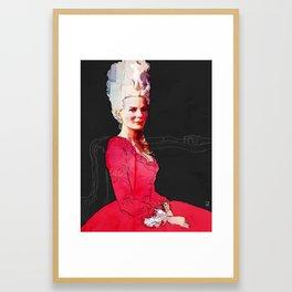 Kirsten Dunst as Marie Antoinette Framed Art Print