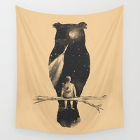 night Wall Tapestries featuring I Have a Dream by Norman Duenas