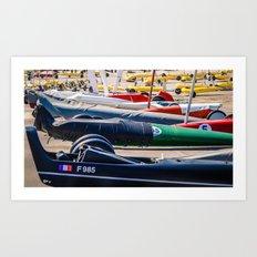 chars à voile, sport Art Print