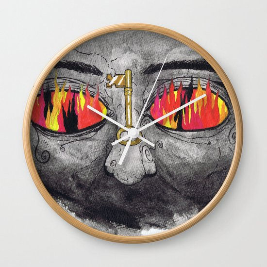 """The People's Key"" by Cap Blackard Wall Clock"