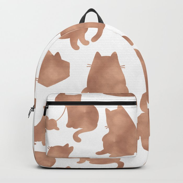 Rose gold cats Backpack