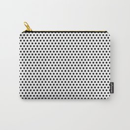 Modern black and white simple elegant pattern Carry-All Pouch