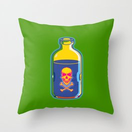 psychedelic poison bottle Throw Pillow