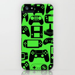 Retro Controllers - Green iPhone Case