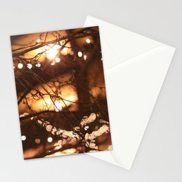 Christmas bokeh Stationery Cards