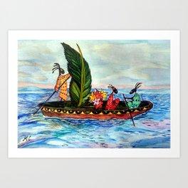 Magic Travel Art Print