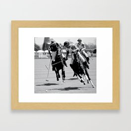 "Horses ""Polo Breakaway"" Framed Art Print"