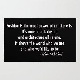 Blair Waldorf Fashion Quote Rug