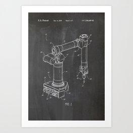 Robotic arm Art Print