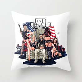 Dan Bilzerian Las Vegas Throw Pillow