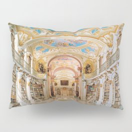 The Magnificent Admont Abbey Library of Admont, Austria Photograph Pillow Sham