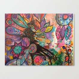 Mandala Goddess Canvas Print