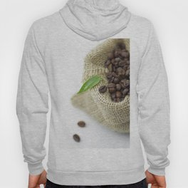 Coffee beans in still life  in jute sack Hoody