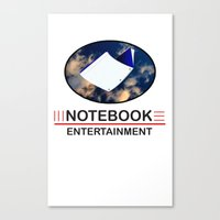 notebook Canvas Prints featuring Notebook Entertainment by NotebookFilms
