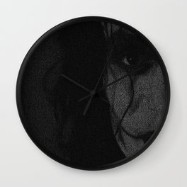 The Crow Screenplay Print (B&W) Wall Clock