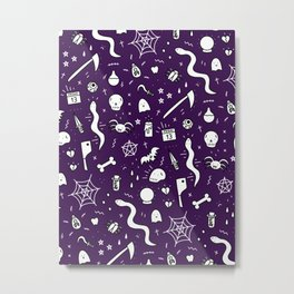 SPOOKY HALLOWEEN! - PURPLE PATTERN Metal Print