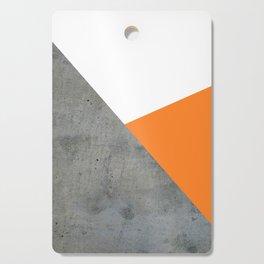 Concrete Tangerine White Cutting Board
