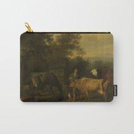Dirck van Bergen - Landscape with Herdsman and Cattle Carry-All Pouch