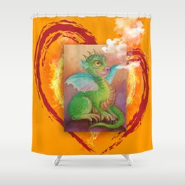 Heart of Baby Dragon Shower Curtain