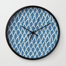 Fishing Net Blue Wall Clock
