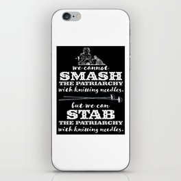 Knitters vs the Patriarchy iPhone Skin