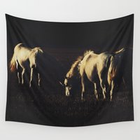 horses Wall Tapestries featuring Horses by Ni.Ca.