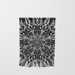 Floral Black and White Mandala Wall Hanging