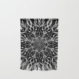 Floral Black and White Mandala Wall Hanging