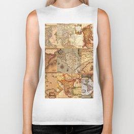 Old maps Biker Tank