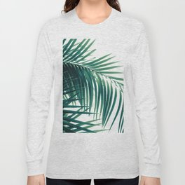 Palm Leaves Green Vibes #6 #tropical #decor #art #society6 Long Sleeve T-shirt