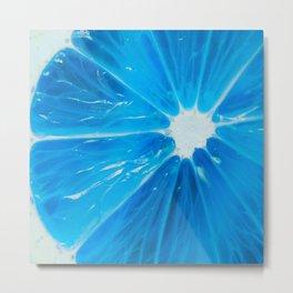 blue bright citrus Metal Print