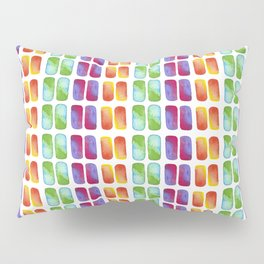 Color pops in Watercolor Pillow Sham