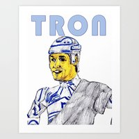 tron Art Prints featuring Tron by AdrockHoward