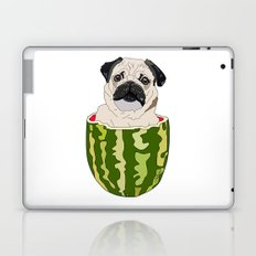 Pug Watermelon Laptop & iPad Skin