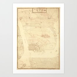 Vintage Map of Charleston SC (1780) Art Print