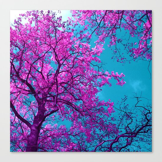 purple tree XXIX Canvas Print