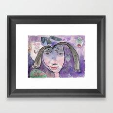 I feel scared Framed Art Print