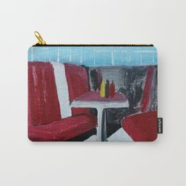 American Diner Impressionist Acrylic Fine Art Carry-All Pouch