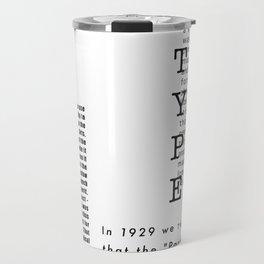 Type - Le Corbusier, Pavilion L'Esprit Nouveau Travel Mug
