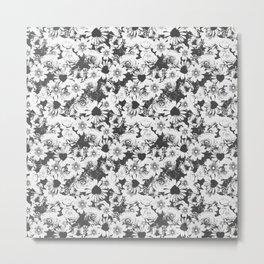 Glitch Floral Metal Print