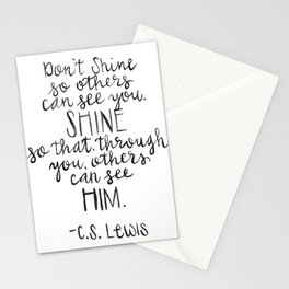 So Others Can See Him Stationery Cards