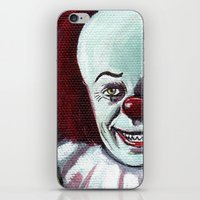 pennywise iPhone & iPod Skins featuring Pennywise the Clown by Minerva Torres-Guzman