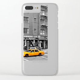 NYC Yellow Cabs Bagel Cafe - USA Clear iPhone Case