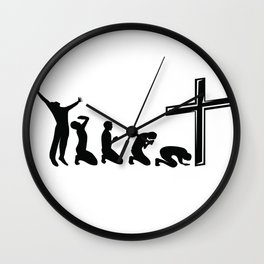 Funny Evolution Of Jesus Religion Christian Gift Wall Clock
