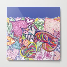 Sea of Multicolor Multiheart Multimania Metal Print