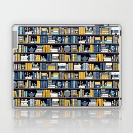 Book Case Pattern - Blue Yellow Laptop & iPad Skin