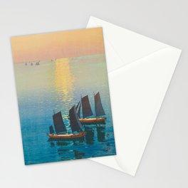 Glittering Sea (Hikaru Umi) Hiroshi Yoshida Modern Japanese Woodblock Print Stationery Cards